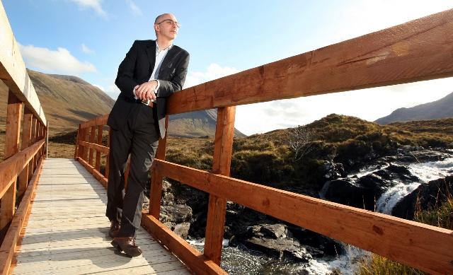 Paul Wood admires the Sligachan scenery