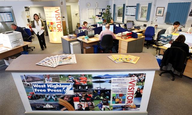 West Highland Free Press news room hard at work!