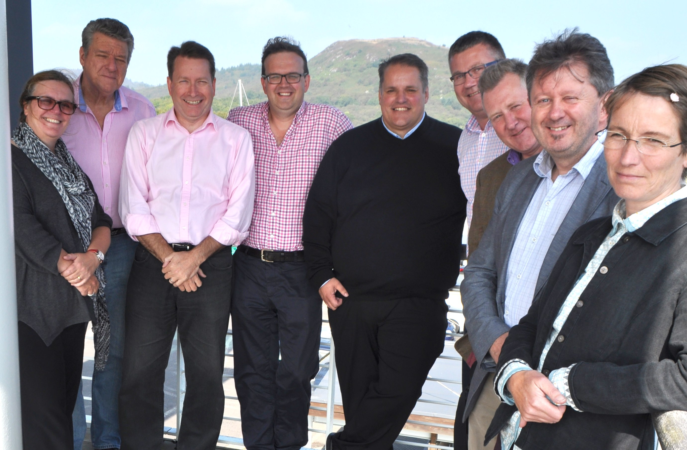 Argyll and the Isles Tourism Co-operative's board. From left, Carron Tobin, David Currie, Calum Ross, Niall Macalister Hall, chairman Gavin Dick, Iain Jurgensen, Andrew Wilson, Brian Keating and Fiona McPhail.