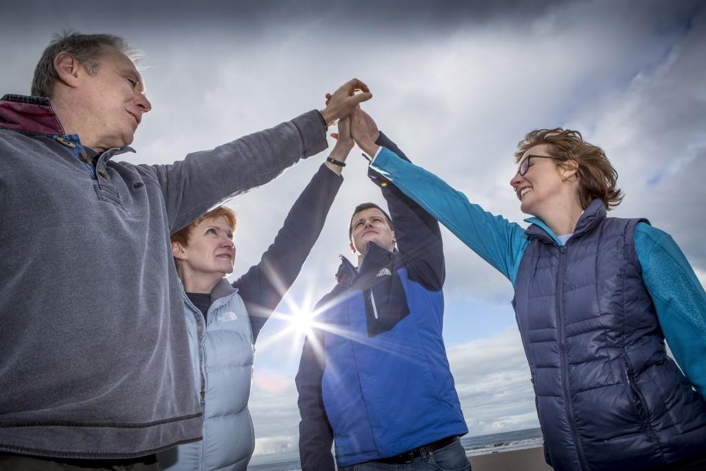 Healthworks Consortium, L-R Kevin Dewar, Karen Davidson, Niall Gosman, Marney Ackroyd