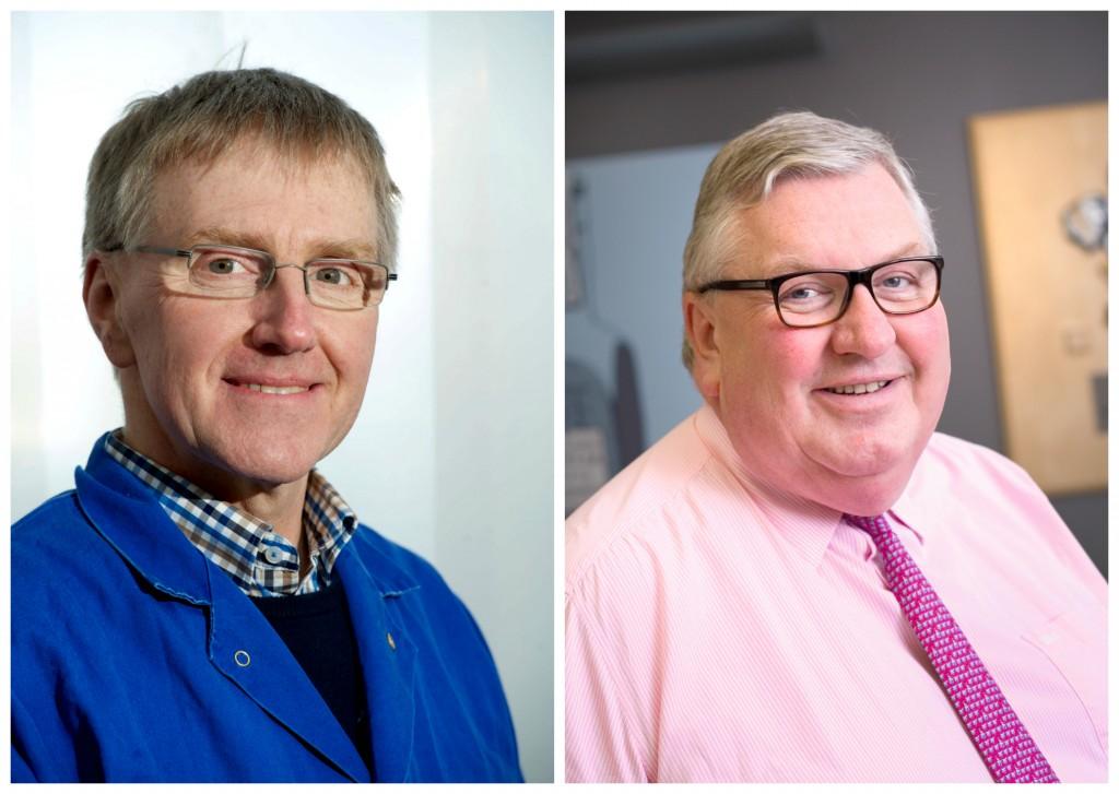 Dennis Overton of Aquascot and David Jones of the John Lewis Partnership