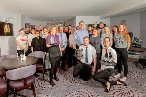 The Priory Hotel, Beauly, Thursday 22, November, 2018. Image: Assembled staff