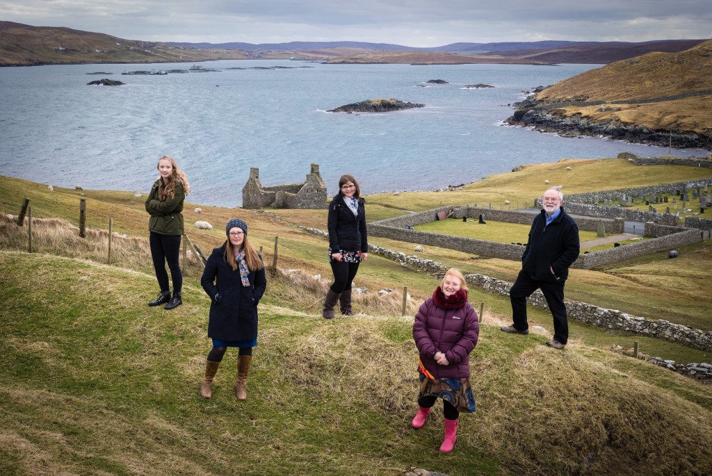 The ESPL Regulatory Consulting team at their Shetland location. Picture L-R: Holly Hunter, Diane Wood, Anna Watt, Helen Erwood, Tony Erwood.  Taken 29-03-2018.