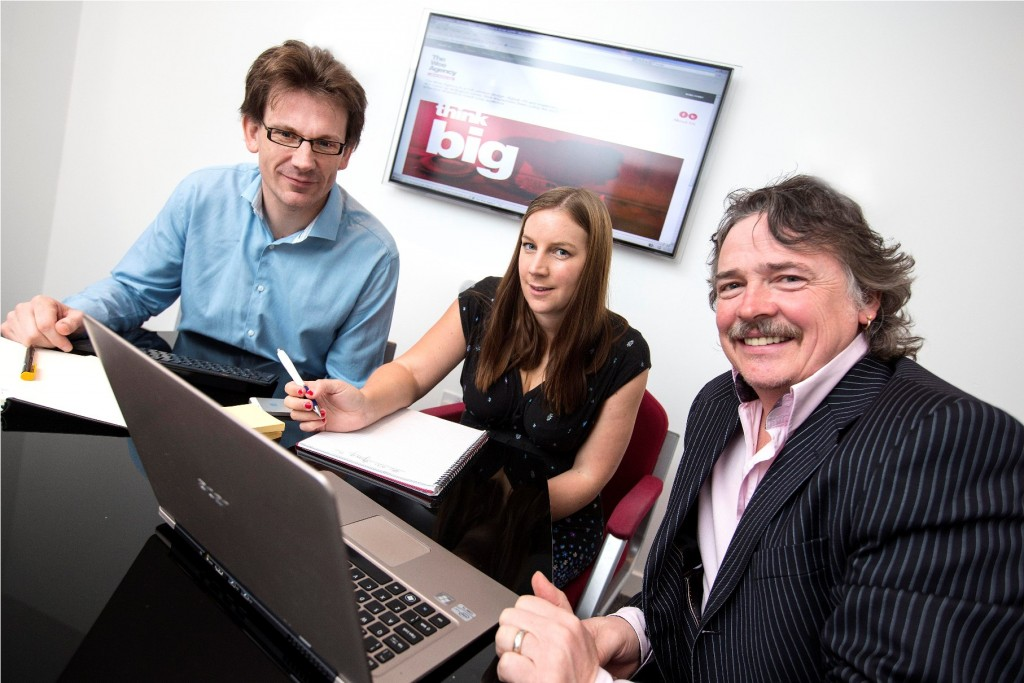 David Massey, managing director of Alchemy+, Nathalie Agnew MCIPR, director of Muckle Media and John Young, director of 2bcreative, represent the three firms that have formed The Wee Agency.