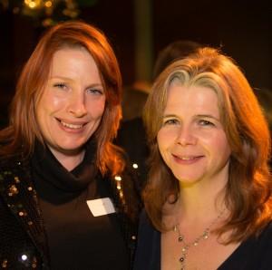 Joanna Dewar Gibb, right, with SFS member Amanda Millen