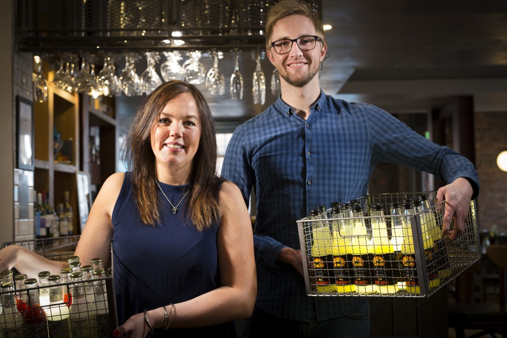 Startup Drinks Coop Scotland, L-R Hannah Fisher, Paul Strachan