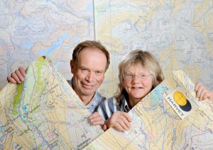 Harvey Maps, Doune, Stirlingshire, 21/11/2017: Harvey Maps founding directors Robin and Susan Harvey.